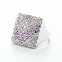 ピンクサファイアとダイヤモンドのリング03