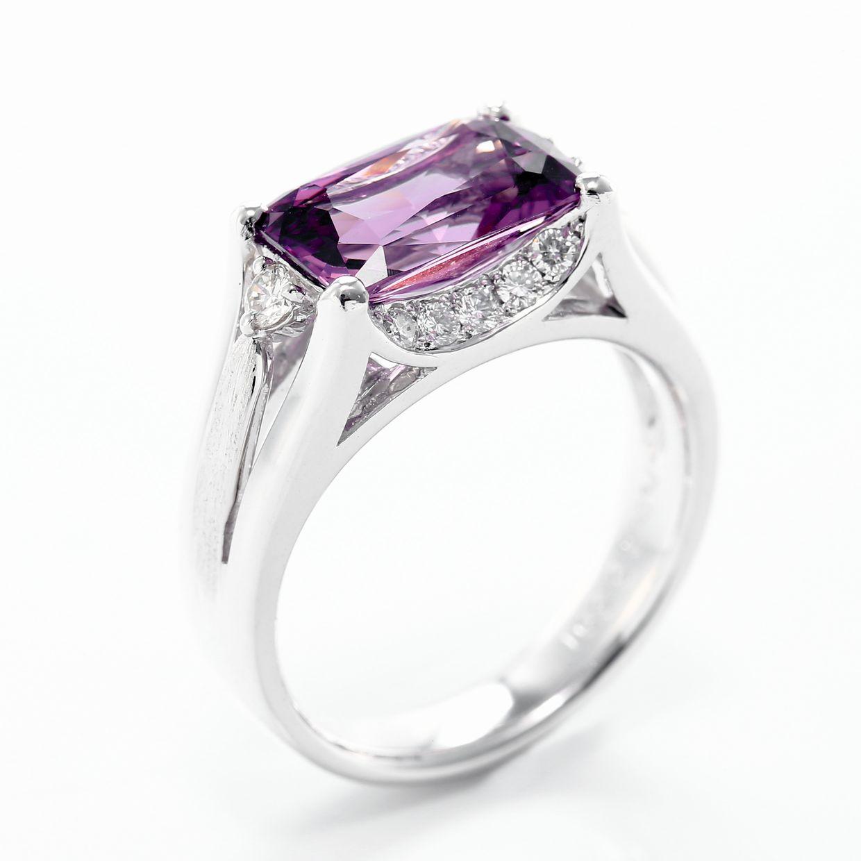 スピネルとダイヤモンドのリング01