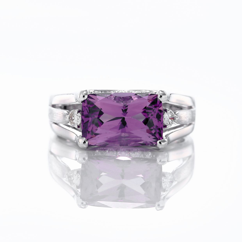 スピネルとダイヤモンドのリング02