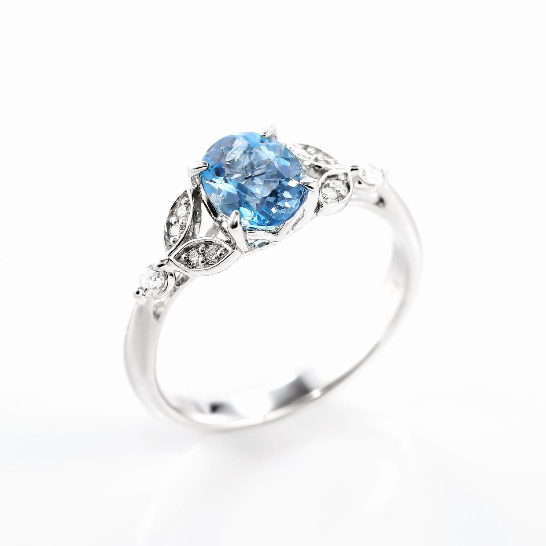 アクアマリンとダイヤモンドのリング02