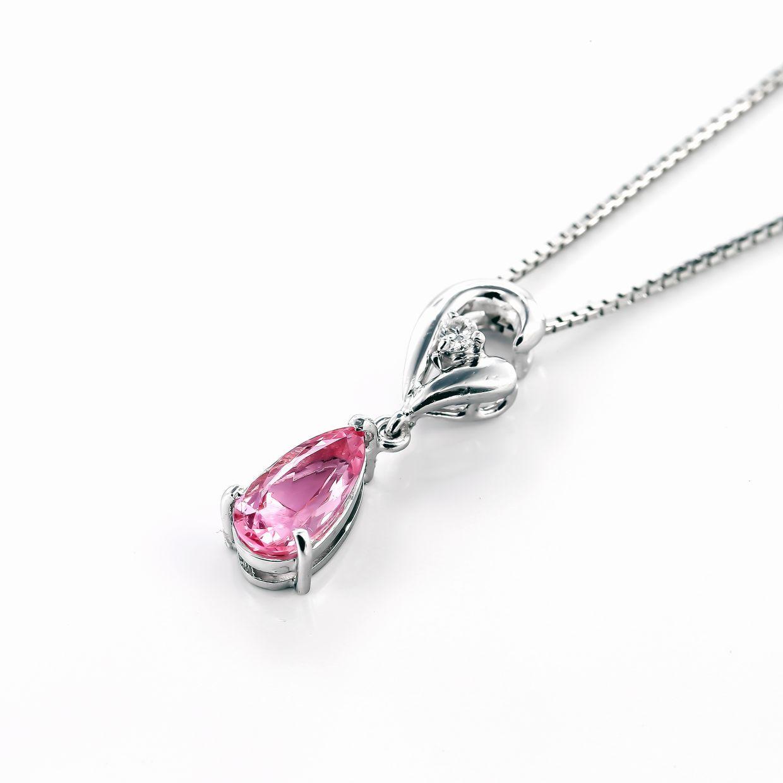 インペリアルトパーズとダイヤモンドのペンダント01