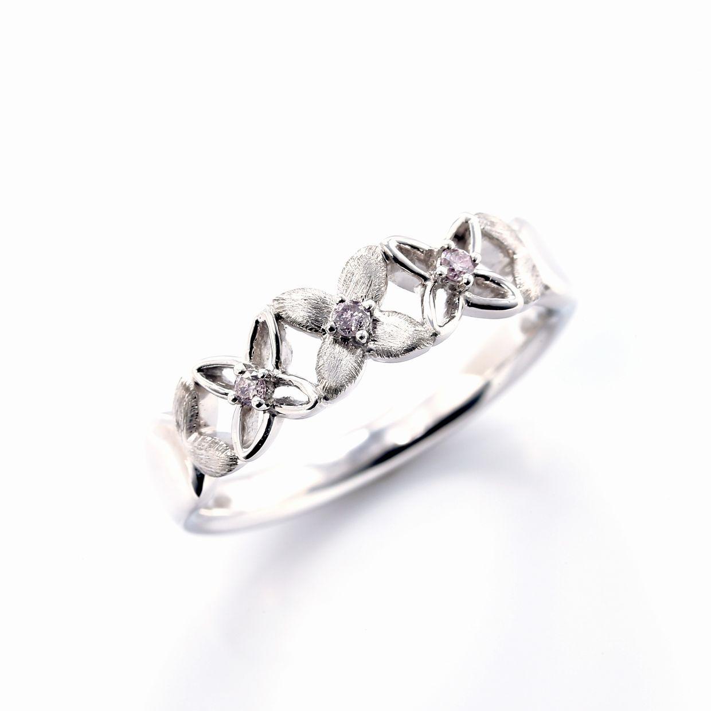 ピンクダイヤモンドのリング01