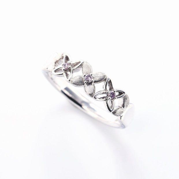 ピンクダイヤモンドのリング04