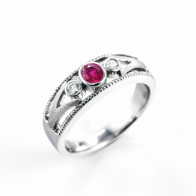ルビーとダイヤモンドのリング01