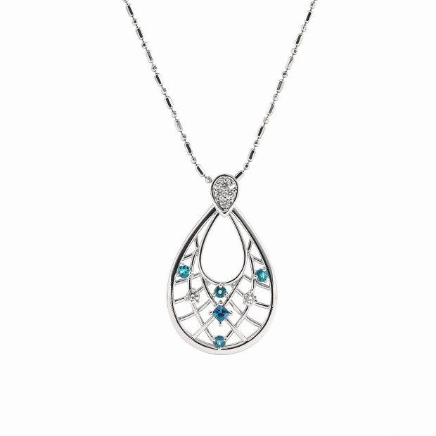 アレキサンドライトとダイヤモンドのペンダントネックレス04