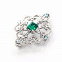 エメラルドとダイヤモンドのネックレス02