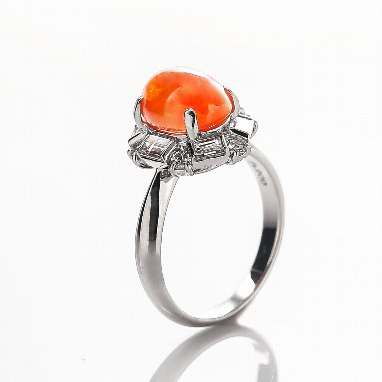 メキシコオパールとダイヤモンドのリング01