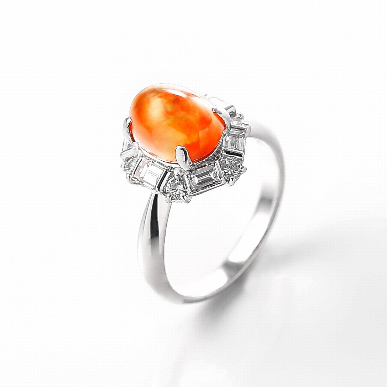 メキシコオパールとダイヤモンドのリング02