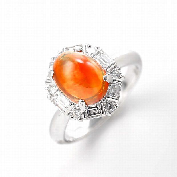 メキシコオパールとダイヤモンドのリング04