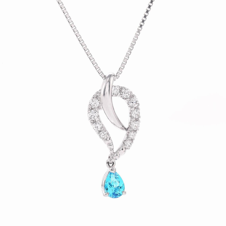 パライバトルマリンとダイヤモンドのネックレス01