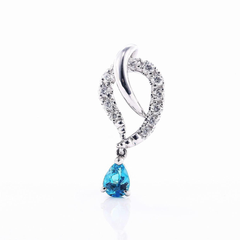 パライバトルマリンとダイヤモンドのネックレス02