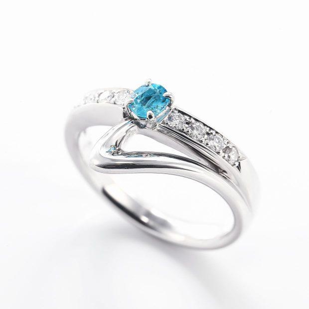 パライバとダイヤモンドのリング04