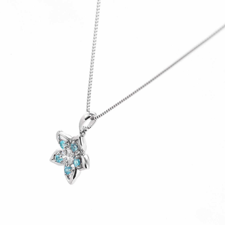 パライバとダイヤモンドのペンダント01