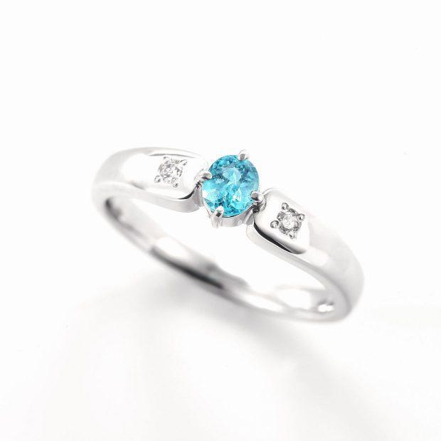 パライバトルマリンとダイヤモンドのリング04