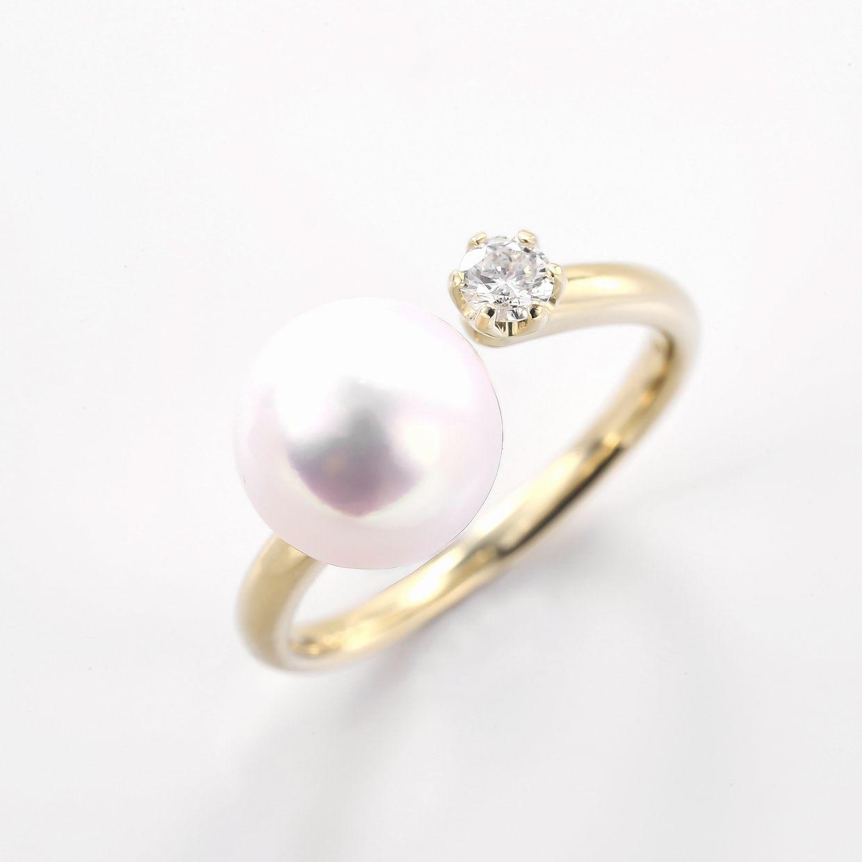 アコヤパールとダイヤのリング01