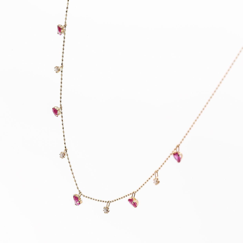 ルビーとダイヤモンドのネックレス01
