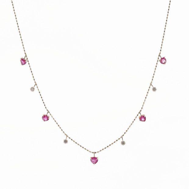ルビーとダイヤモンドのネックレス04