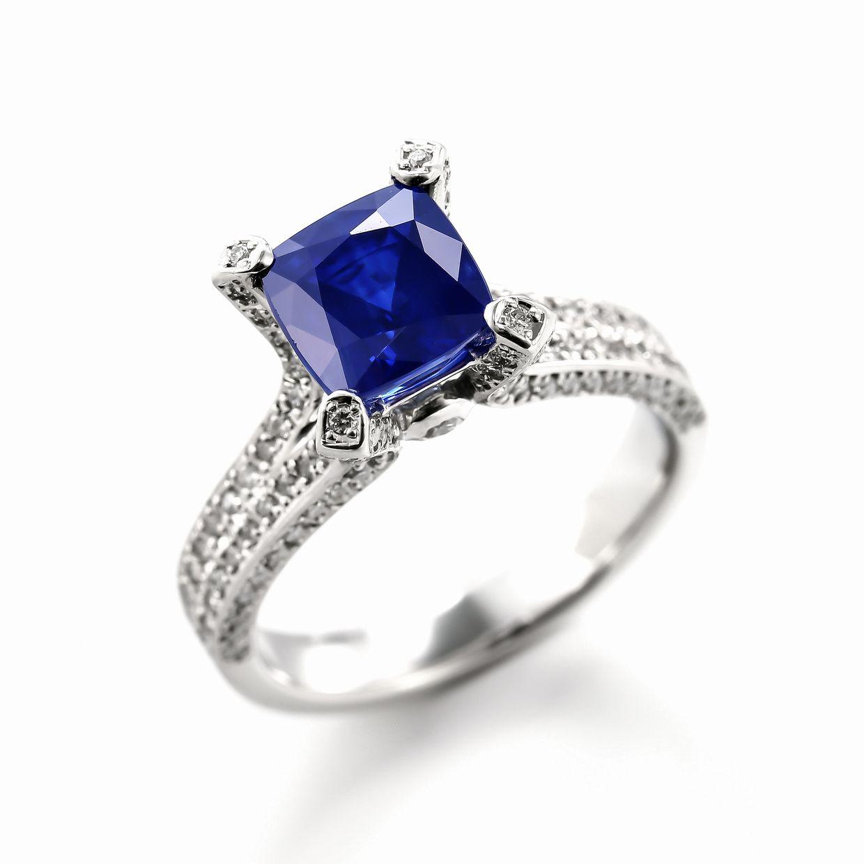 サファイアとダイヤモンドのリング01