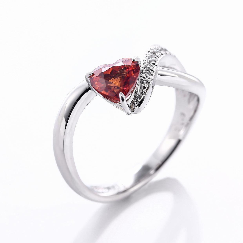スペサルティンガーネットとダイヤモンドのリング02
