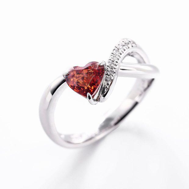 スペサルティンガーネットとダイヤモンドのリング04
