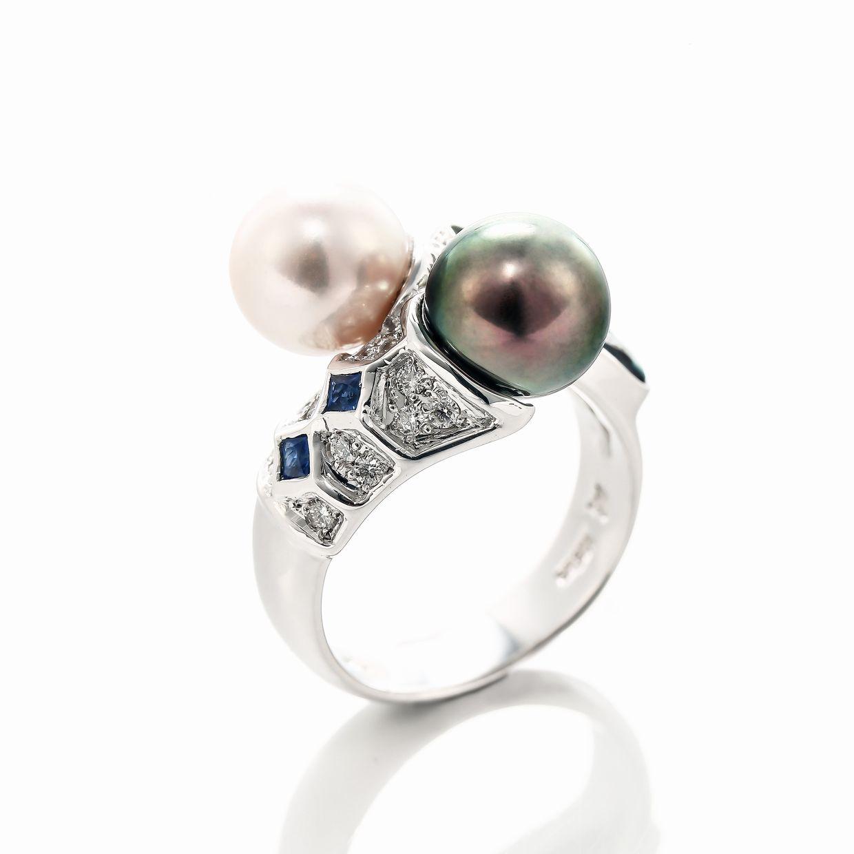 オパールとパール(真珠)のリング 02