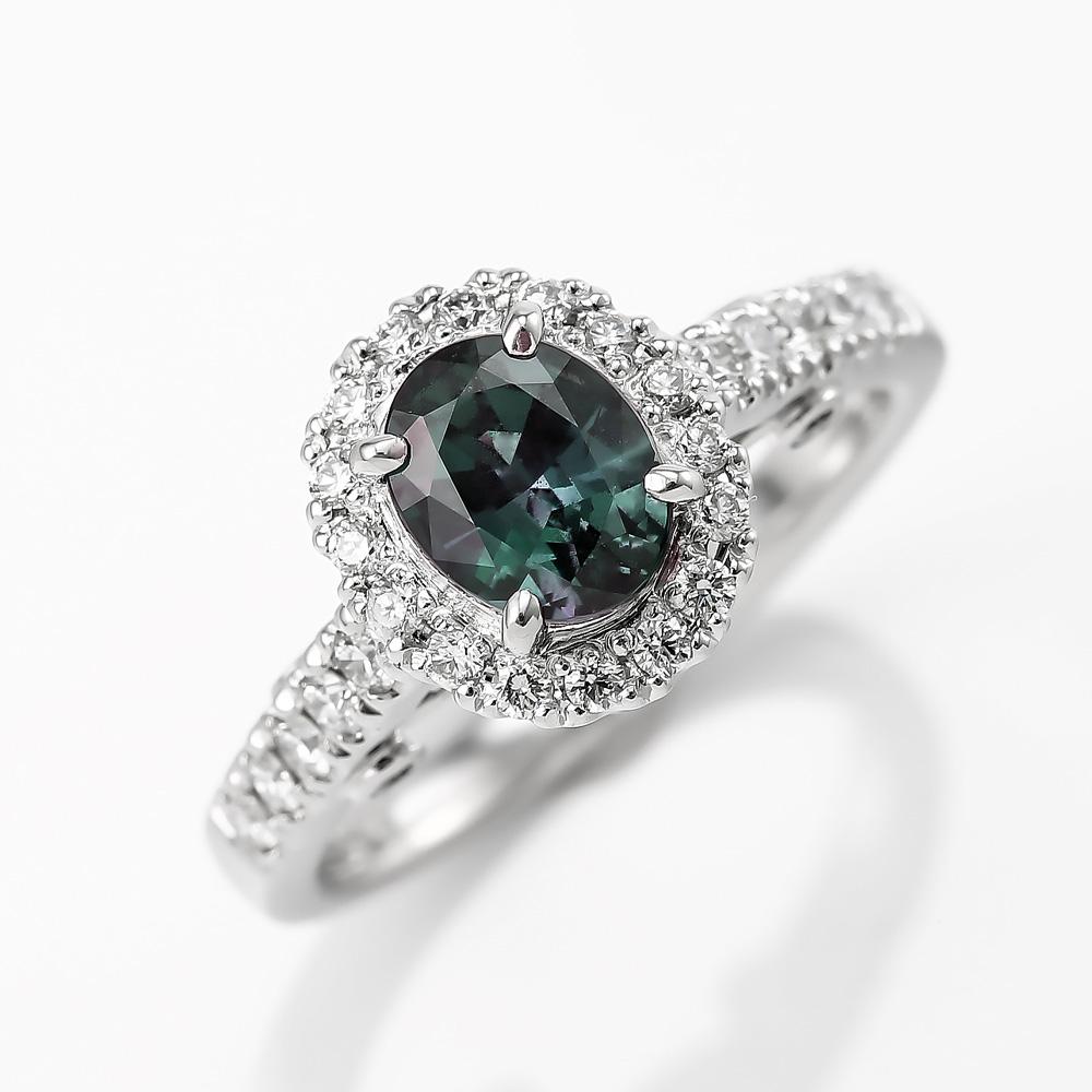 アレキサンドライトダイヤモンドリング 商品番号4721