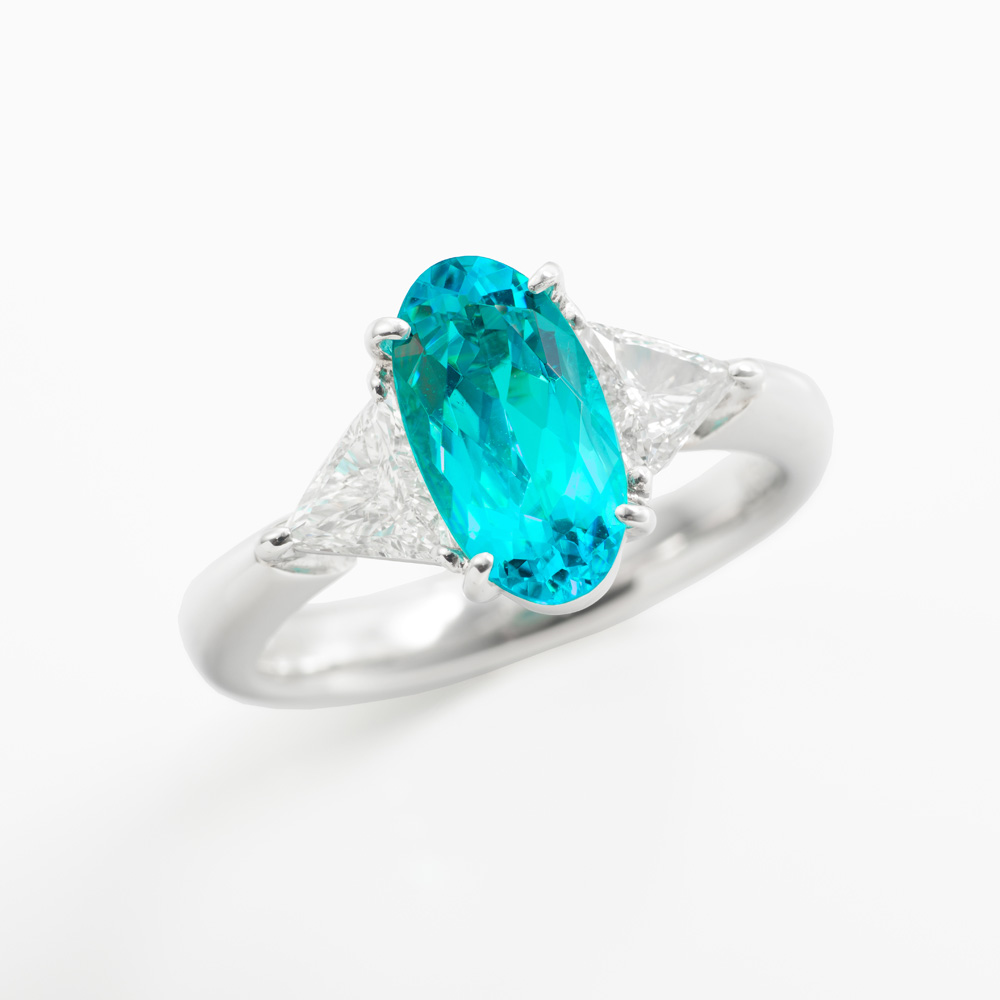 パライバトルマリンダイヤモンドリング 商品番号3780