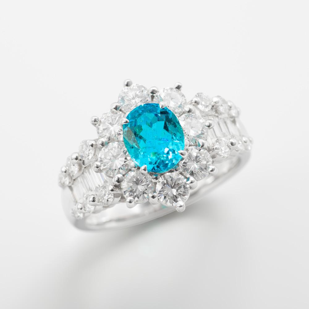 パライバトルマリンダイヤモンドリング 商品番号3781