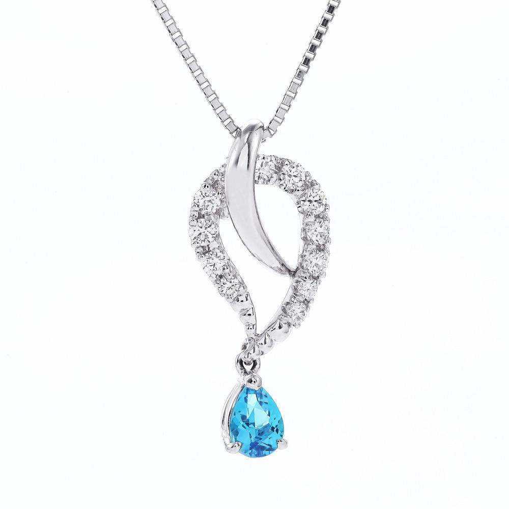 パライバトルマリンダイヤモンドネックレス 商品番号7960
