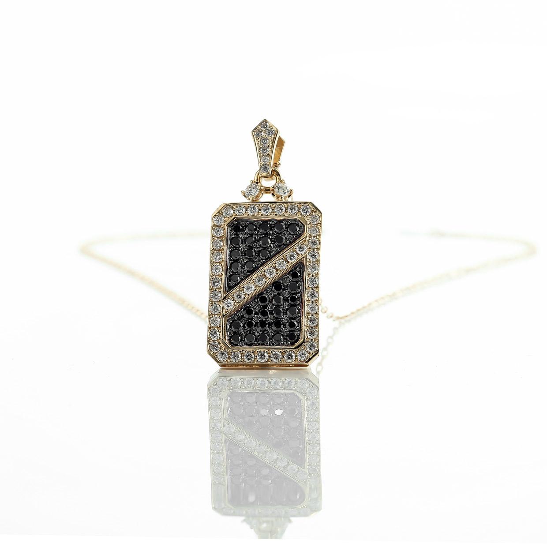 ダイヤモンド入りブラックダイヤモンドのK18ペンダント2