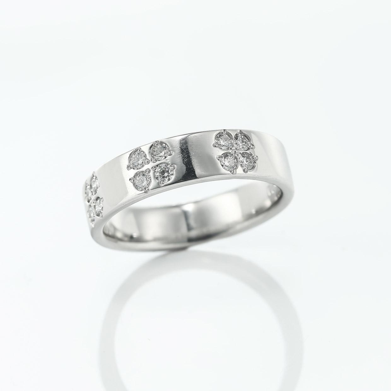 メレーダイヤのプラチナリング1