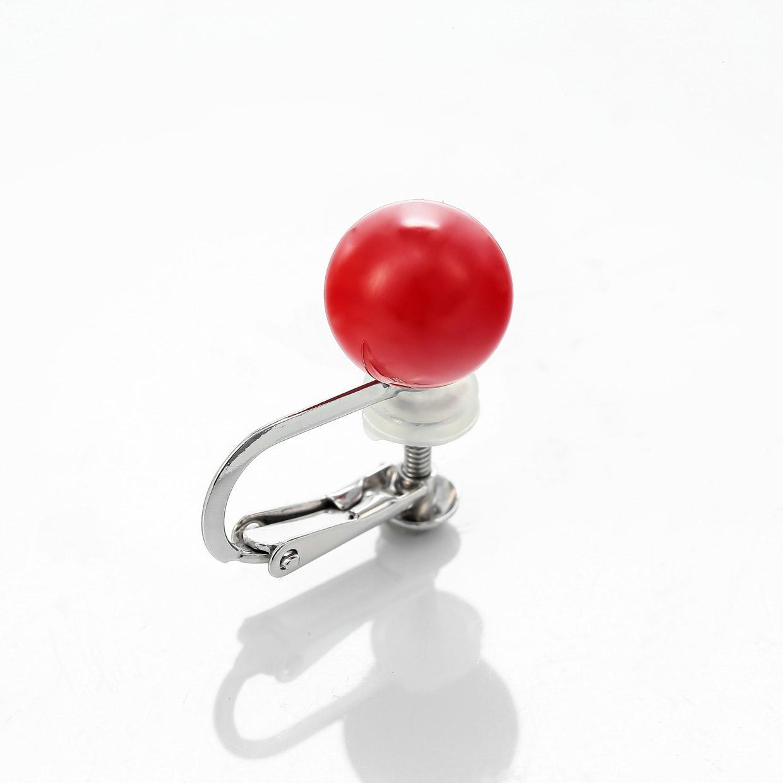 血赤サンゴ(珊瑚)のイヤリング 01