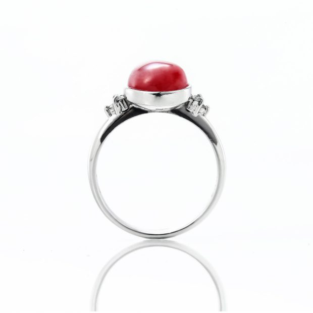 血赤サンゴ(珊瑚)のリング 02