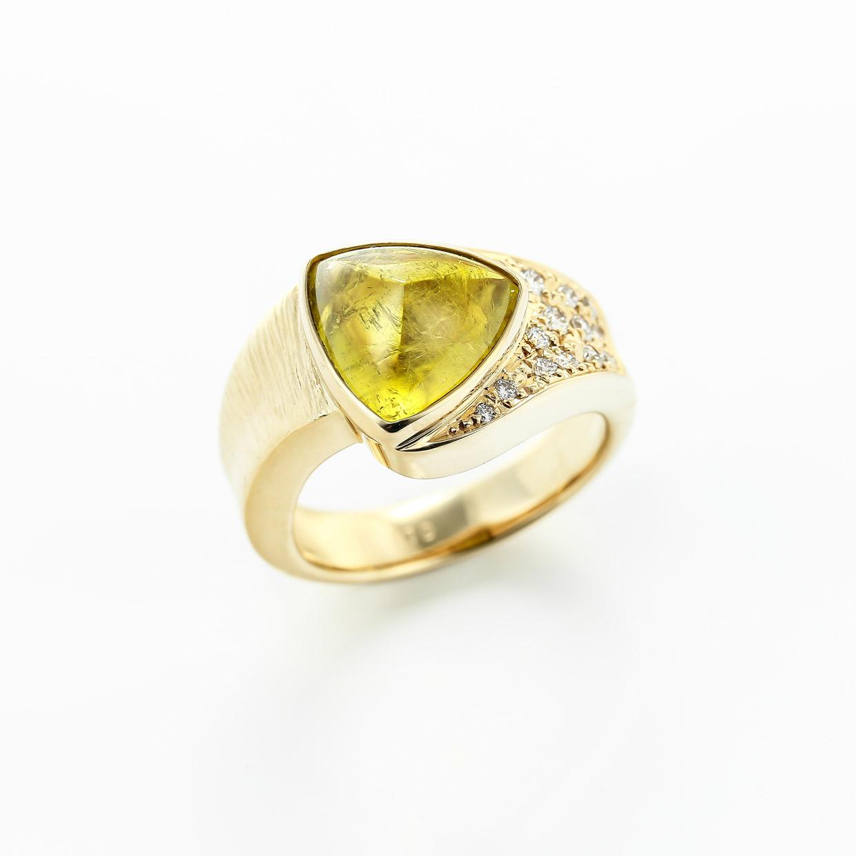 トルマリンとダイヤモンドのリング1