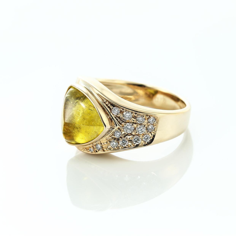 トルマリンとダイヤモンドのリング2