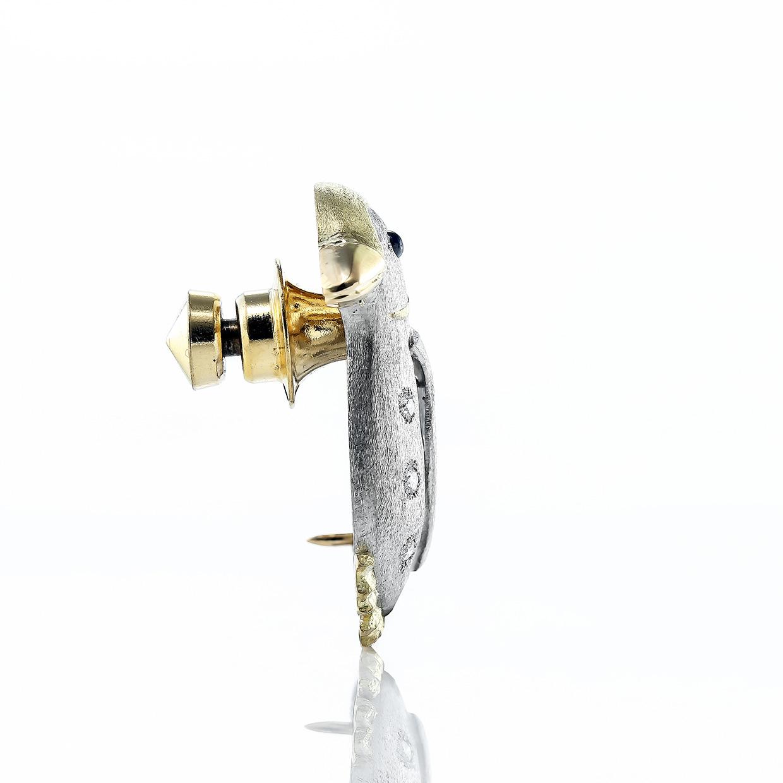 サファイアとダイヤモンドのブローチ 02