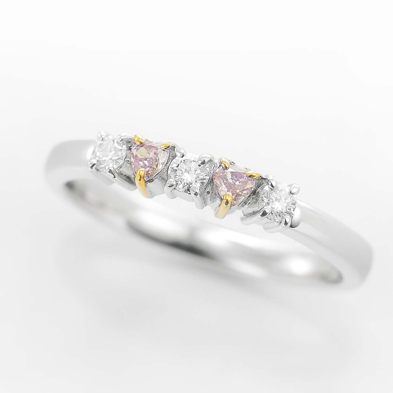 ピンクダイヤモンドのリング 01