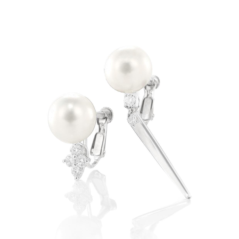 アコヤ真珠とダイヤモンドのイヤリング 01