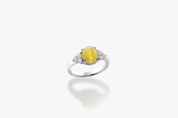 キャッツアイの婚約指輪