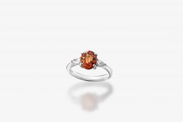 スぺサルティンガーネットの指輪