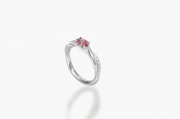 パパラチアサファイア婚約指輪